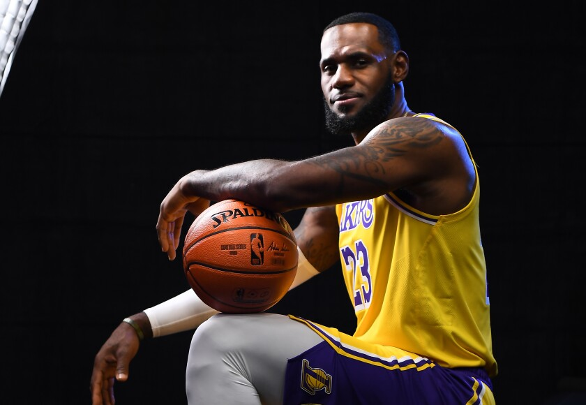 Lakers star LeBron James is looking forward to the upcoming season.