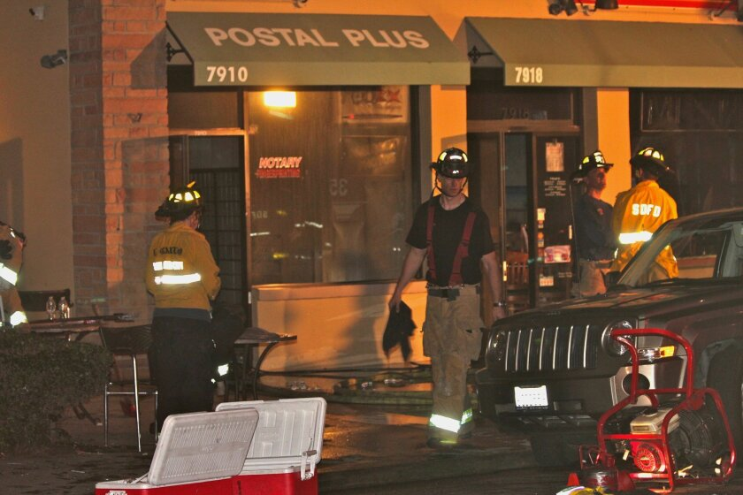 Fire crews respond to a grease fire at the Mr. Taco restaurant on Ivanhoe Avenue Feb. 9