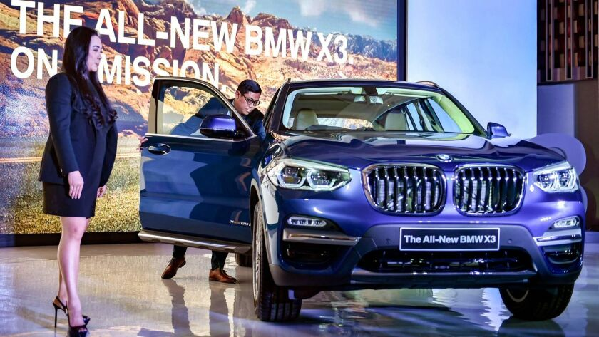 The 2018 X3 during its launch in Jakarta on April 11.