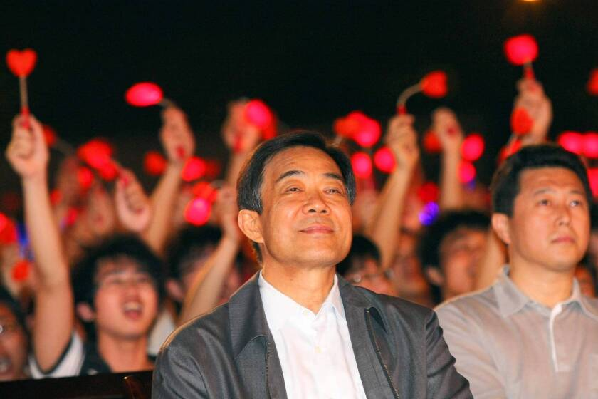 Bo Xilai, pictured at a Chongqing, China, event in 2010, is to go on trial soon on charges of abuse of power.