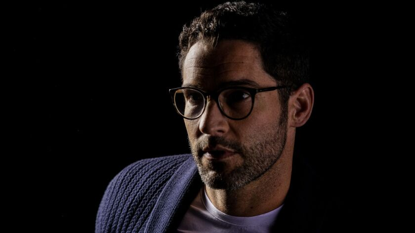 "BURBANK, CALIF. - MAY 07: Tom Ellis from the Netfflix series ""Lucifer,"" poses for a portrait at Warn"