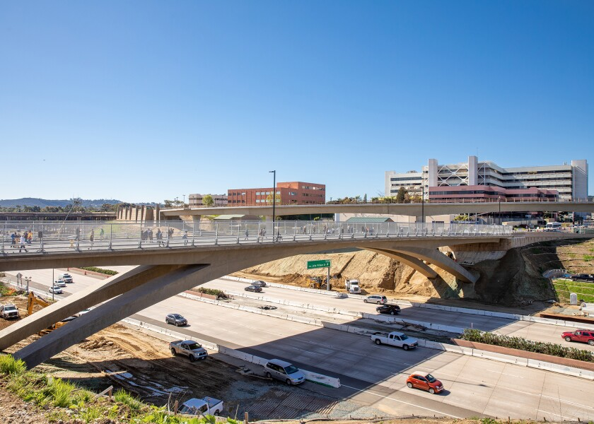 Moffatt & Nichol received an engineering award for its work on the Gilman Road bridge in La Jolla.