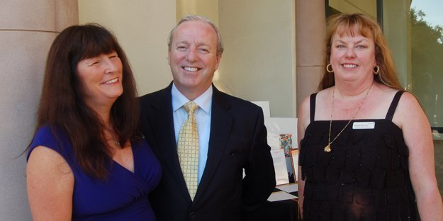 Lynne Bath (Carmel Valley), Tom Freeley (downtown), Gala committee member and author of the Chocolate Mystery Series Kathy Krevat (Carmel Valley)