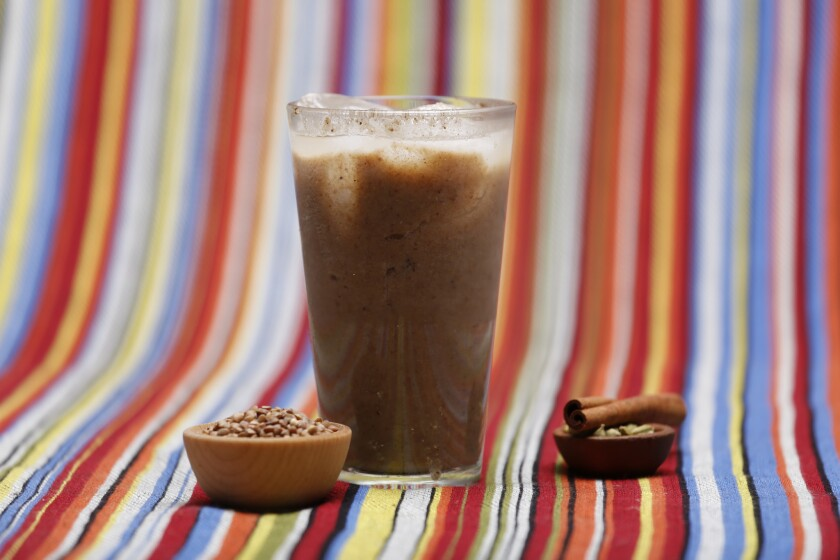 Buckwheat cardamom horchata is inspired by the ancestor of horchata, barley water.