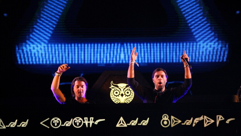 Axwell Ingrosso performs at Electric Daisy Carnival.