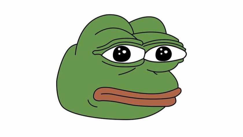 Online, the meme known as 'Pepe the frog' also goes by other aliases, including 'sad frog' and 'smug frog.'