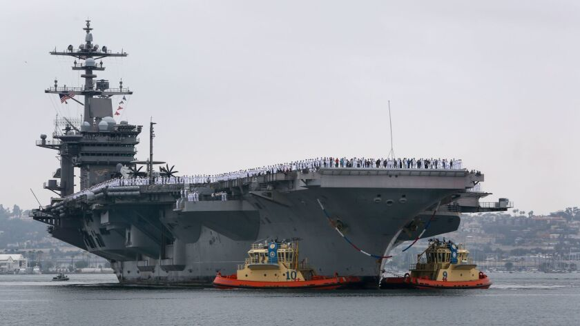 CORONADO, CA: June 23, 2017 | The aircraft carrier USS Carl Vinson arrives at Naval Air Station Nor