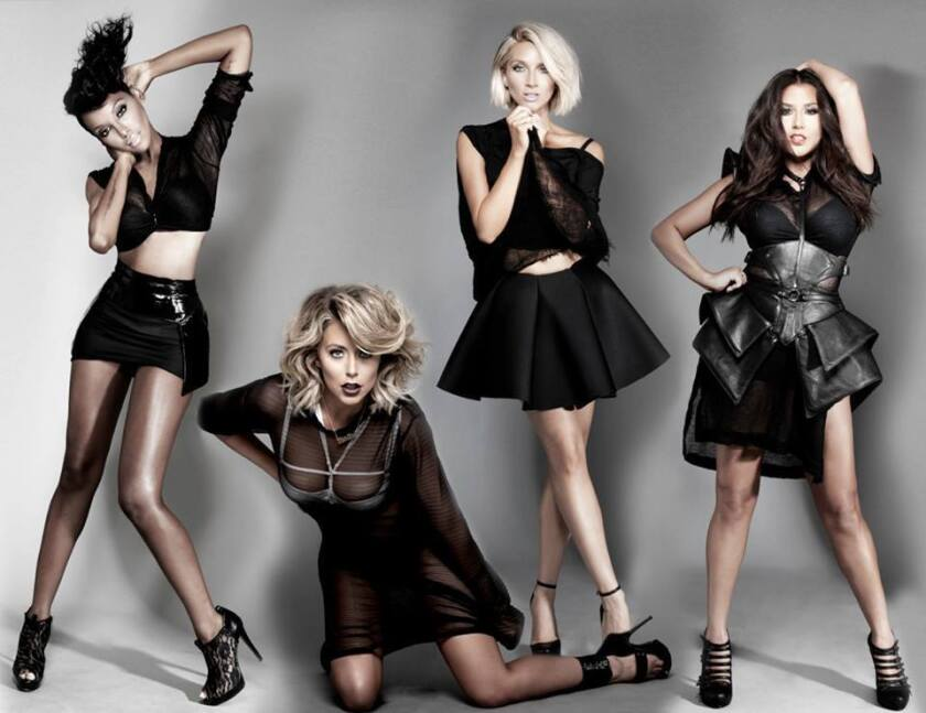 From left: Dawn Richard, Aubrey O'Day, Shannon Bex and Andrea Fimbres of Danity Kane.