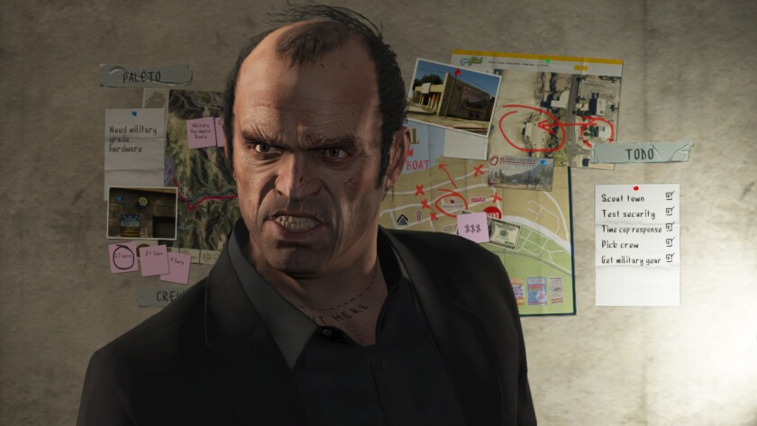 "A screen shot from the video game ""Grand Theft Auto V."""