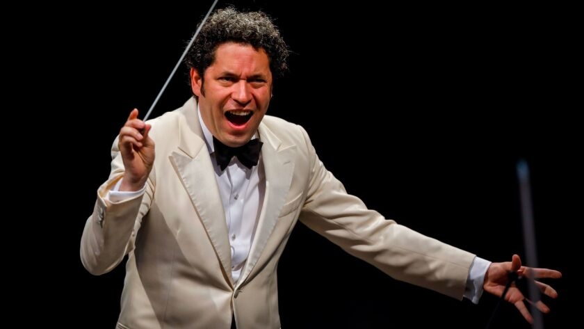 "LOS ANGELES,CA --TUESDAY, AUGUST 22, 2017--Conductor Gustavo Dudamel leads ""The Planets,"" with the L"