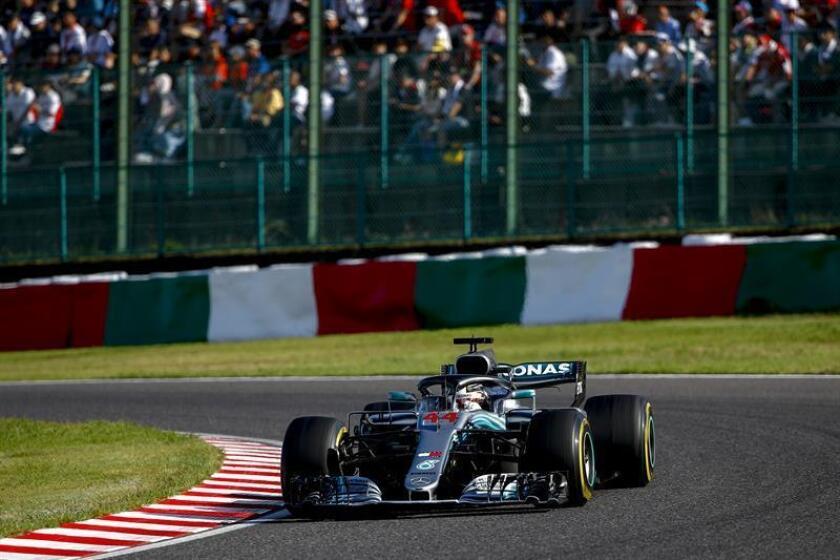 El piloto británico de Fórmula Uno Lewis Hamilton, durante el Gran Premio de Japón disputado el pasado 7 de octubre. EFE