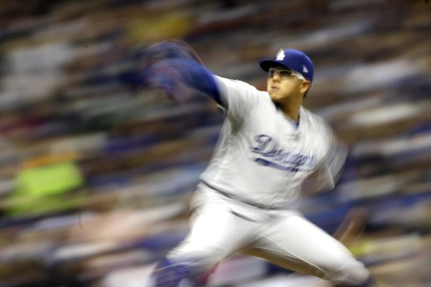 APphoto_Dodgers Brewers Baseball