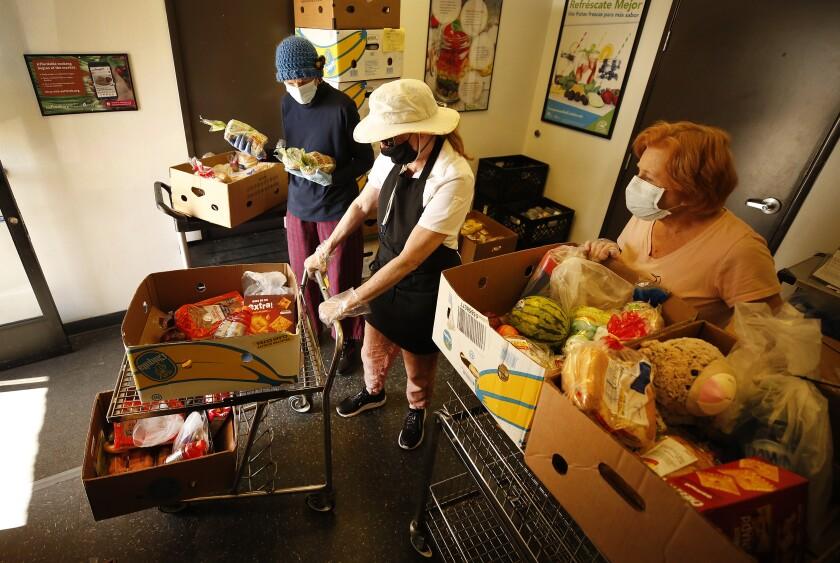 Volunteers at St. Margaret's Center in Lennox