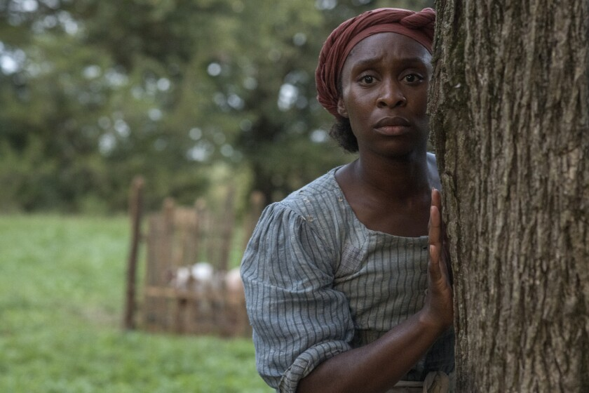 "This image released by Focus Features shows Cynthia Erivo as Harriet Tubman in a scene from ""Harriet."" On Monday, Jan. 13, Erivo was nominated for an Oscar for best actress for her role in the film. (Glen Wilson/Focus Features via AP)"