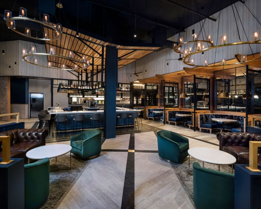 The interior of Black Rail Kitchen + Bar in Carlsbad, which opened in August.