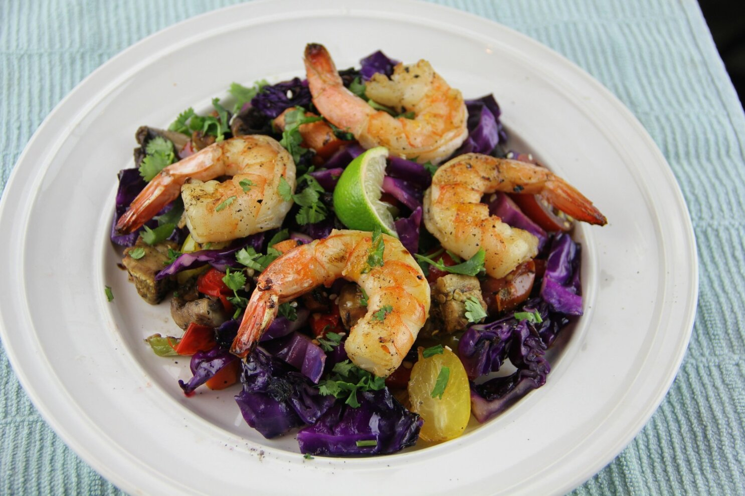 Grilled vegetables put a new spin on shrimp salad - The San Diego ...