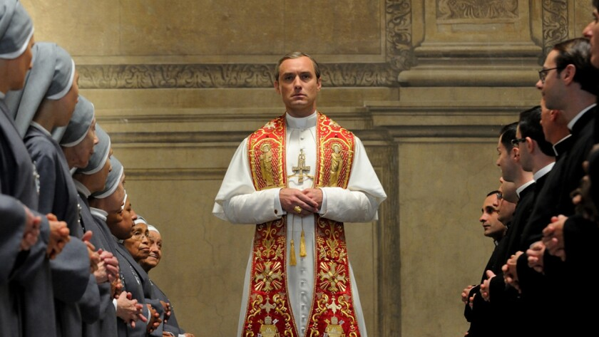 "Jude Law in ""The Young Pope"" on HBO."