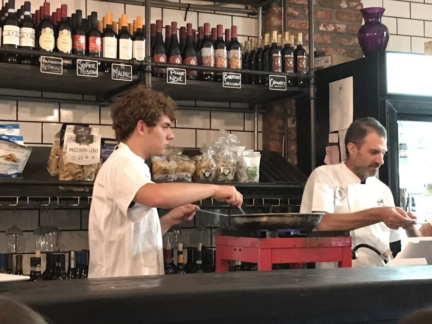 Ravioli masters Sergio and Andrea Cornolti will be opening Bottega della Pasta in San Diego. The Italian father and son chefs held a special pasta tasting recently at Enoteca Buona Forchetta in South Park.