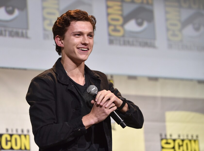 "Tom Holland de la cinta ""Spider-Man: llegó a San Diego Comic-Con"