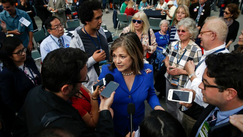 Rep. Loretta Sanchez at the 2015 California Democratic Party convention in Anaheim.