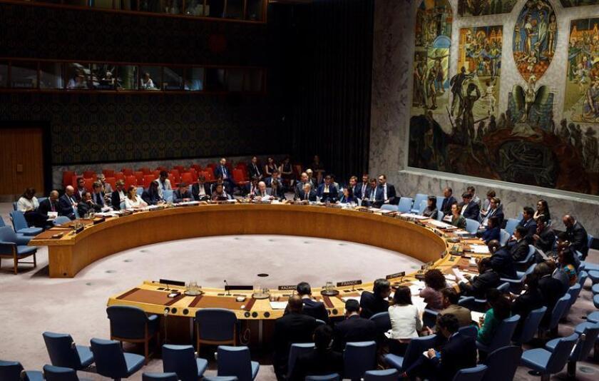 Vista de la reunión del Consejo de Seguridad de la ONU. EFE