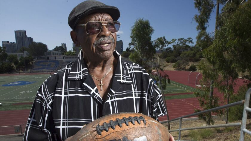 Former Chargers running back Paul Lowe, shown last September at Balboa Stadium where he once played, recently learned he has prostate cancer.