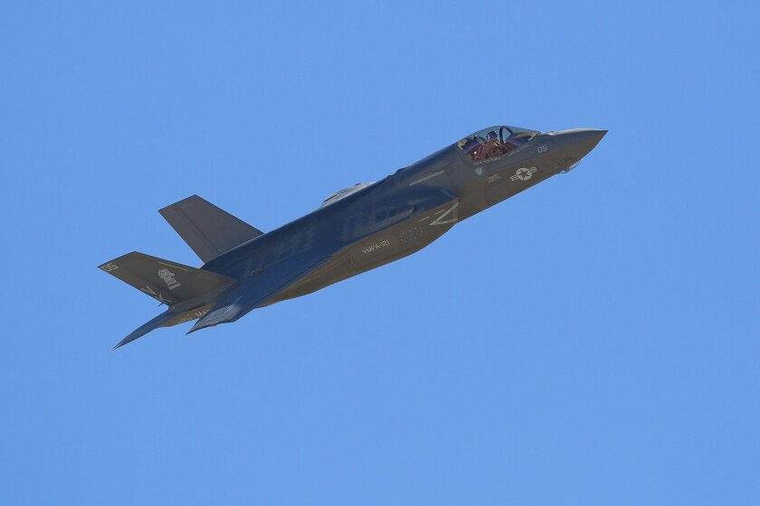 The Marines demonstrate the new F-35B Joint Strike Fighter at this year's Miramar Air Show.