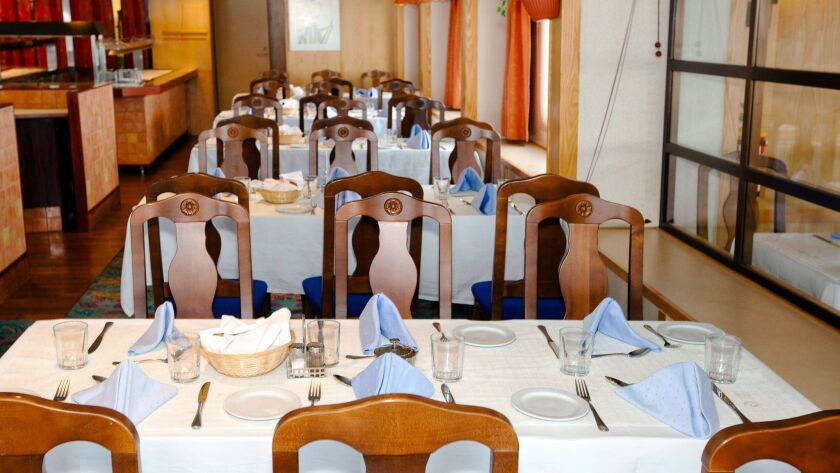The dining area on the G Expedition. Meals are included with the price of the cruise.