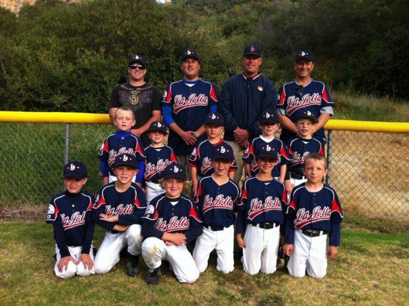 La Jolla Youth Baseball's Shetland Blue team courtesy