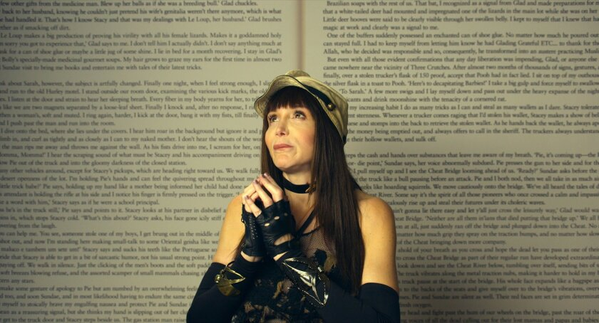 """This image released by Magnolia Pictures/Amazon Studios shows Laura Albert from the film, """"Author: The JT LeRoy Story."""" (Magnolia Pictures/Amazon Studios via AP)"""