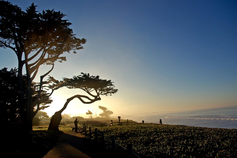 Lovers Point Pacific Grove California Sunset Ocean Beach Monterey Art Print 305