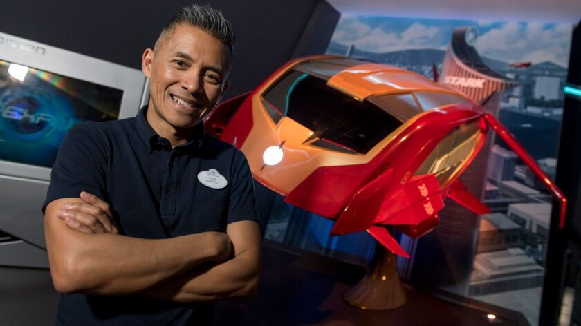 Ted Robledo oversaw the creation of Iron Man Experience at Hong Kong Disneyland.