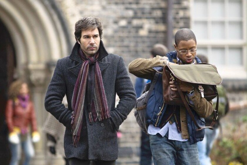 "Eric McCormack, left, and Arjay Smith in ""Perception"" on TNT."