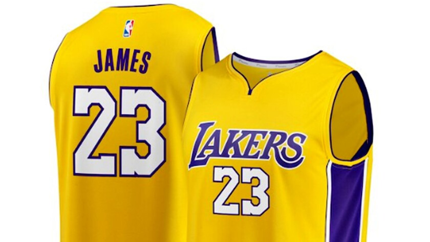 A LeBron James jersey