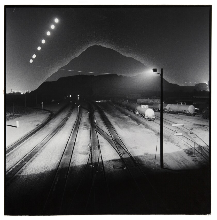 """Lewis deSoto A photograph titled """"Tahualtapa, Hill of the Ravens,"""" circa 1983-1988 on a gelatin sil"""