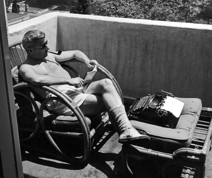"""William Faulkner in Hollywood in the early 1940s. """"I think I have had about all of Hollywood I can stand,"""" he wrote to his agent in 1945. """"I feel bad, depressed, dreadful sense of wasting time."""""""
