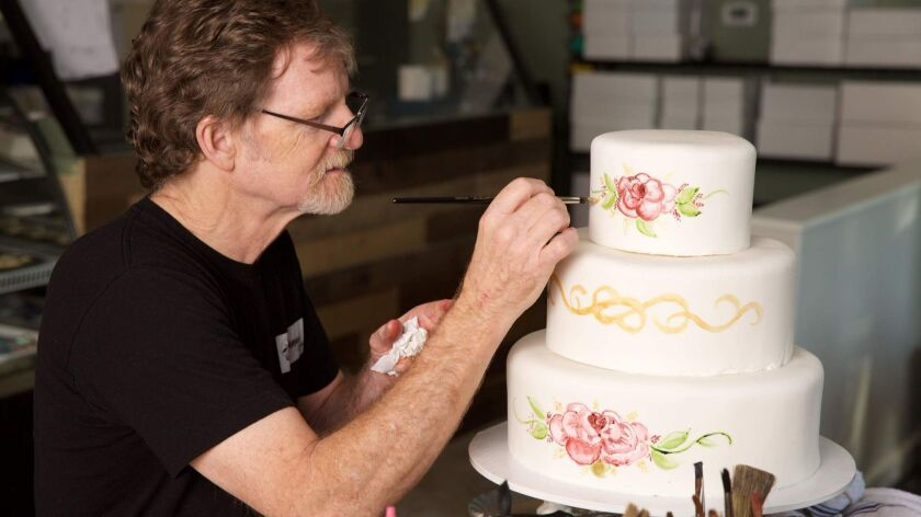 Baker Jack Phillips at Masterpiece Cakeshop in Lakewood, Colo.