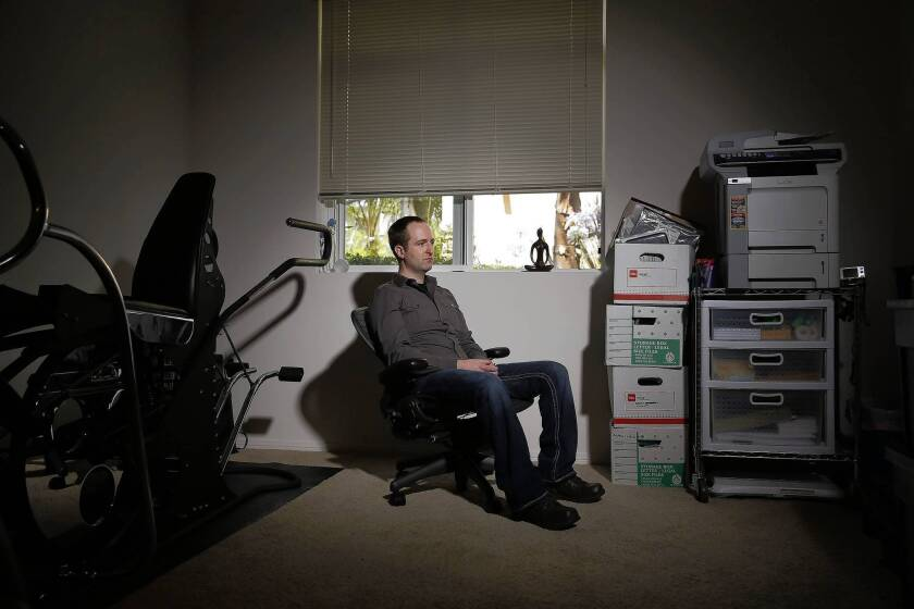 """Having undergone multiple reconstructive foot surgeries, Brian Davis of Playa del Rey accumulated $400,000 in bills. """"It was a constant juggling of finances for years,"""" he said. He ultimately filed for bankruptcy."""