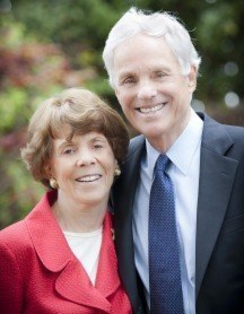 Former UC San Diego Chancellor and University of California President Richard Atkinson with his wife, Rita. Erik Jepsen/UC San Diego Publications