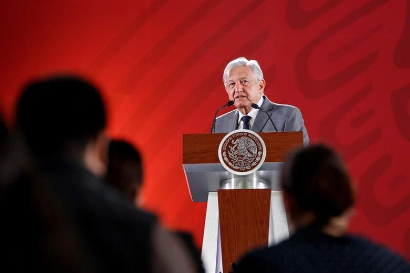 President Andres Manuel Lopez Obrador speaks during his daily press conference on March 4, 2019, in Mexico City, Mexico. EPA-EFE/Jose Mendez