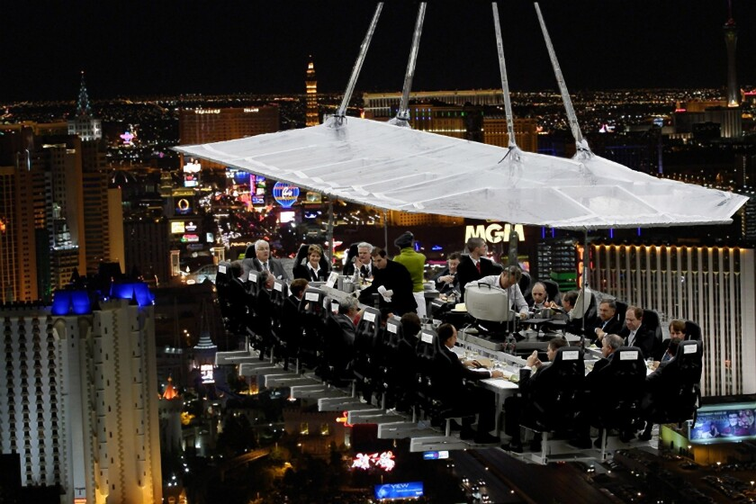 Dinner in the Sky Las Vegas is expected to open to the public this summer.