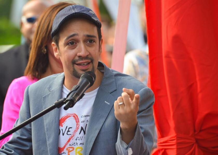 """El artista de origen puertorriqueño Lin-Manuel Miranda logró hoy una nominación a la mejor canción original, con """"How Far I'll Go"""" (de la película de animación """"Moana""""), en la 74 edición de los Globos de Oro. EFE/ARCHIVO"""