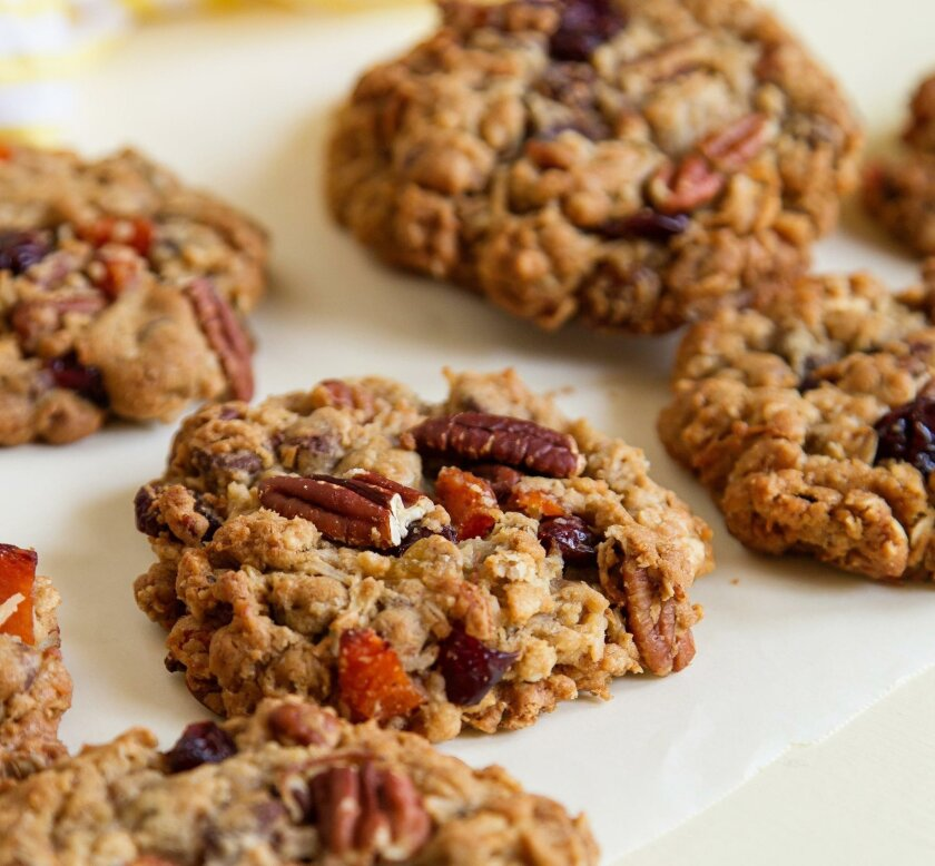 Fruit and Nut Oatmeal Chewies styled and baked by Jill O'Connor at her home  in Coronado.