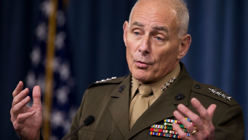 Gen. John Kelly at the Pentagon last January, the month he retired from the Marine Corps.