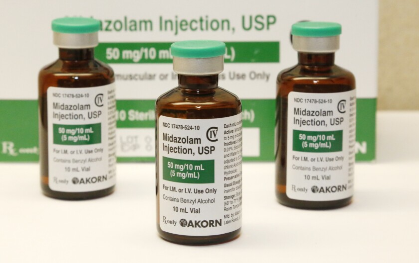 Midazolam was used in three botched executions last year.