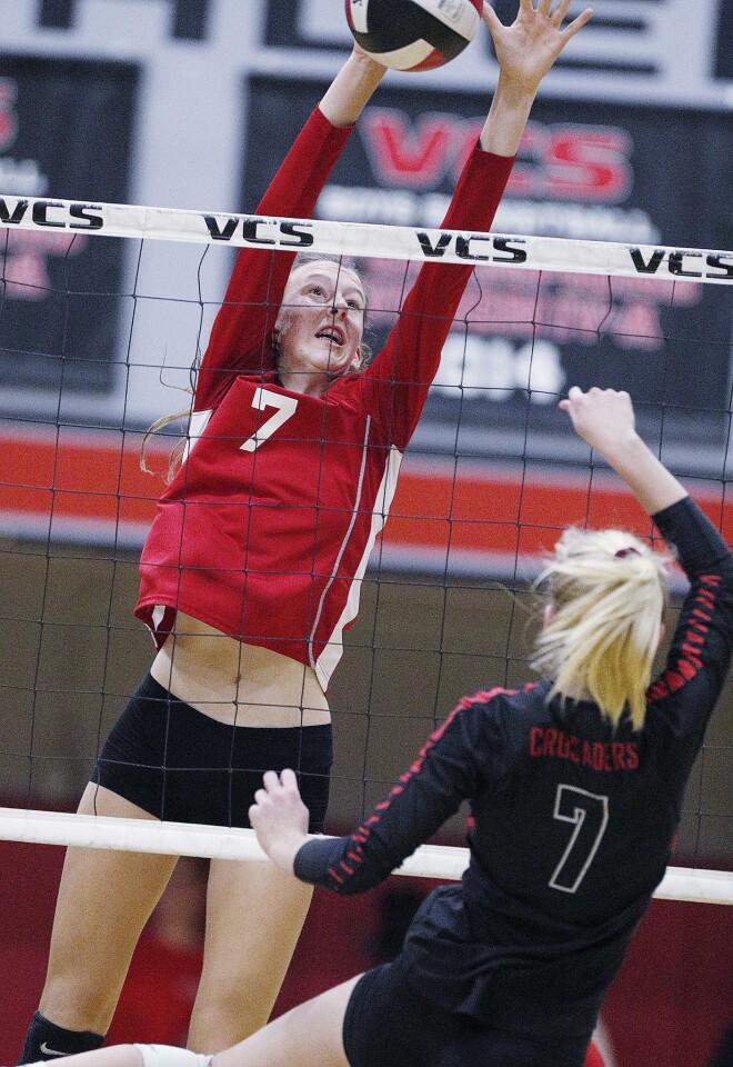Photo Gallery: Burroughs vs. Village Christian in CIF quarter final girls' volleyball