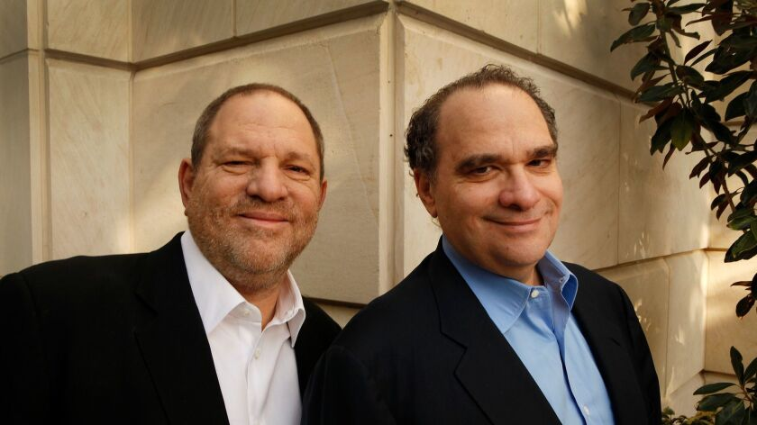 BEVERLY HILLS, CA FEBRUARY 24, 2012 -- Harvey and Bob Weinstein, (Left to Right) photographed at t