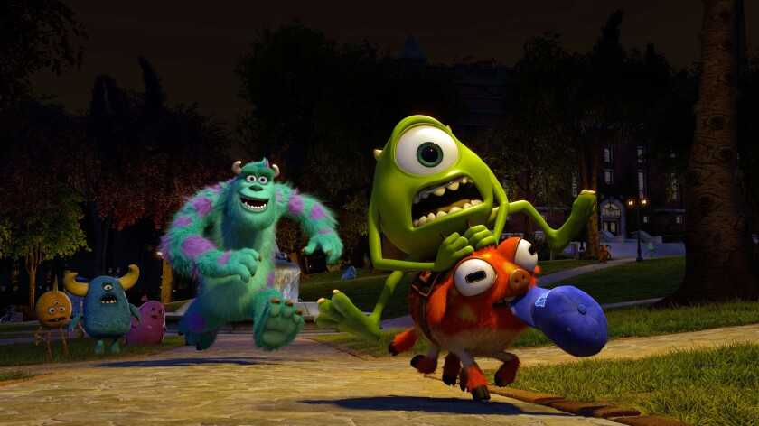 """A scene from """"Monsters University."""""""
