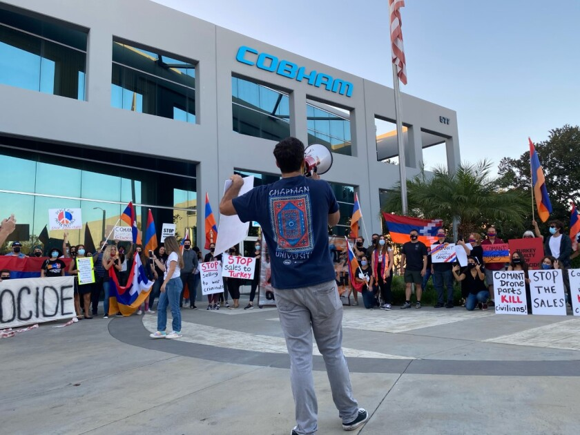 The Armenian National Committee of America in Orange County protest Comant Industries.