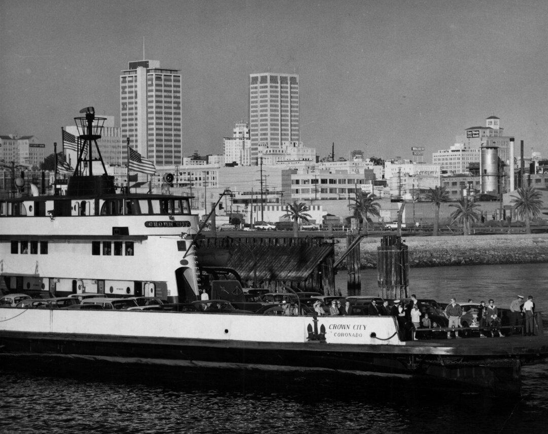 San Diego to Coronado ferry, the Crown City, in 1967.